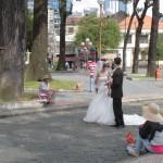 街中で写真先取り撮影